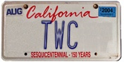 TWC License Plate