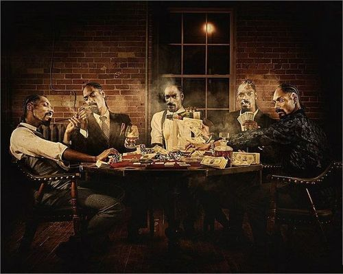Doggs Playing Poker