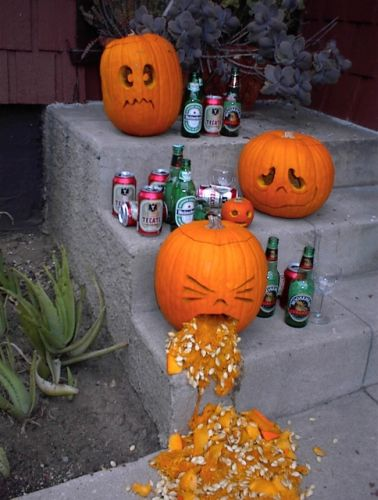 3 drunk pumpkins