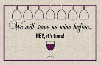 Wine doormat 1