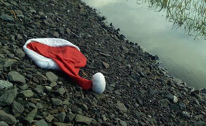 Santa hat sad