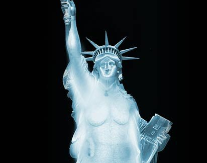 Stutue of Liberty scanner