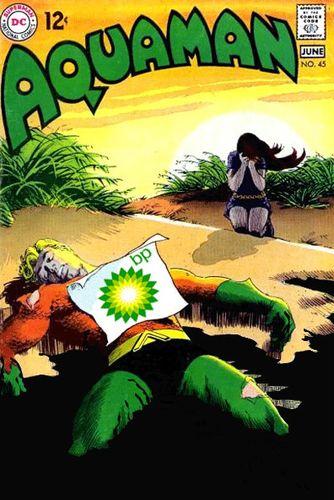 Aquaman dies oil spill