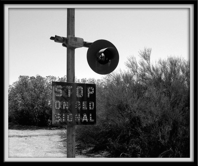 Stop on red signal copy
