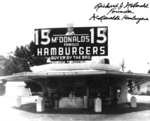 McDonalds Grand Opening Original 1948