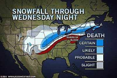 Snow tomight