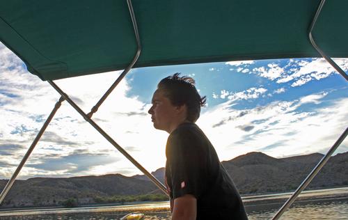 Jake Driving boat