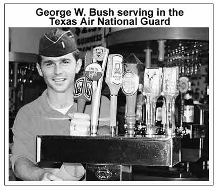 Bush_serving_beer