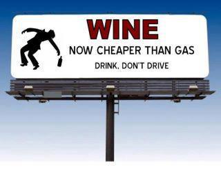 Wine cheaper than gas