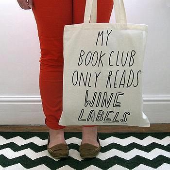 Book club wine labels