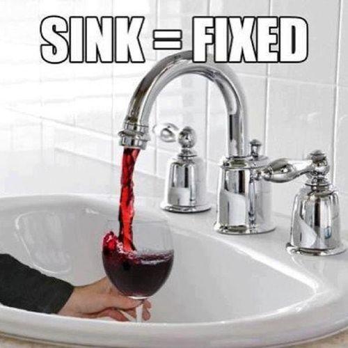 Wine sink fixed