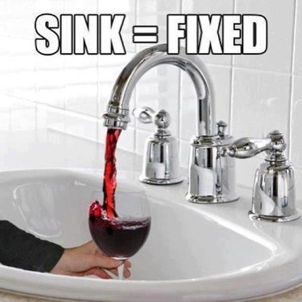 Wine sink fixed
