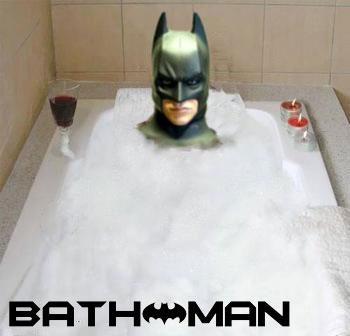 Bat man bathtub