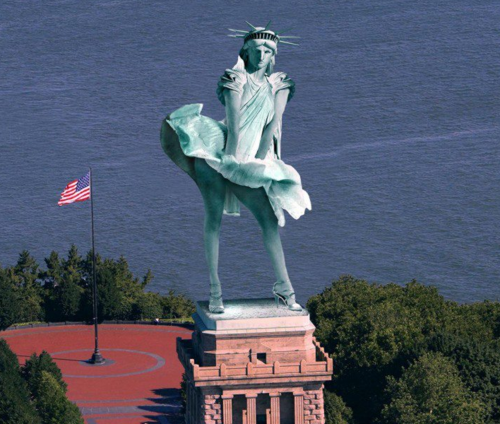 STATUE OF lIBERTY WINDY