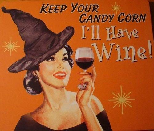 Halloween candy corn wine