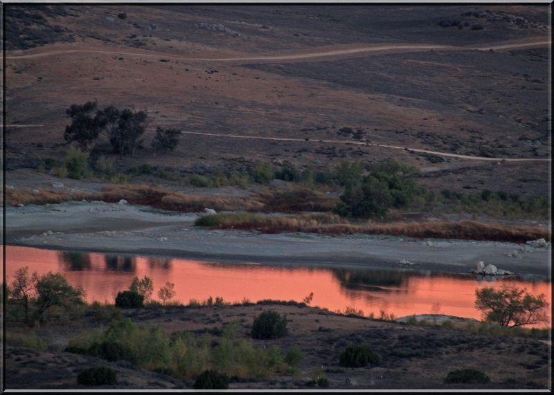 Sunrise pink water copy