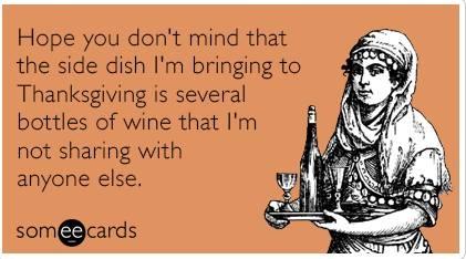 Thanksgiving SIDE DISH WINE