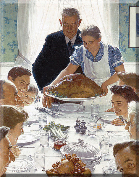 Thanksgiving rockwell copy