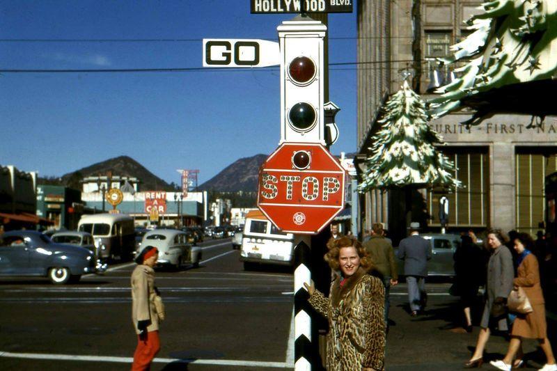 Christmas Hollywood Blvd 1953