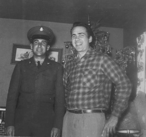 Ray + Ron Snell  (Army) Xmas 1954