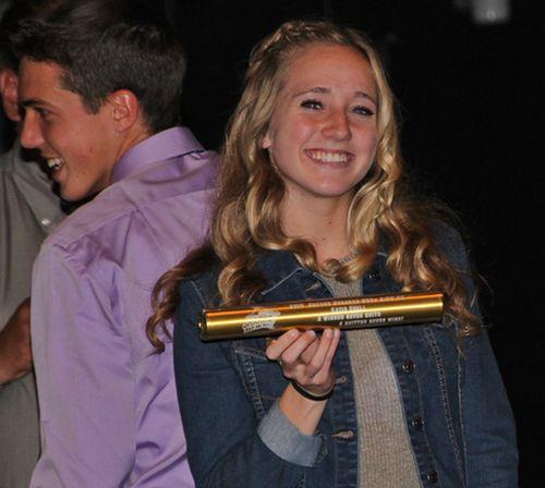 Katie record setting baton engraved 2 22 05