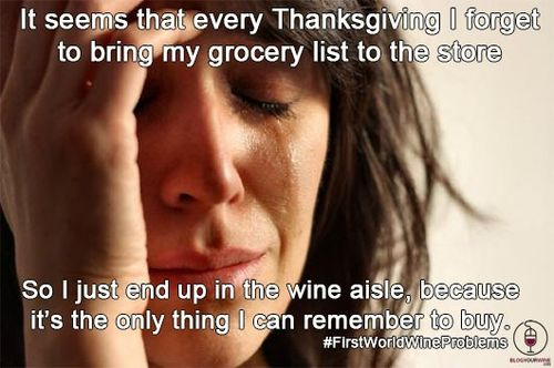 Thanksgiving wine aisle
