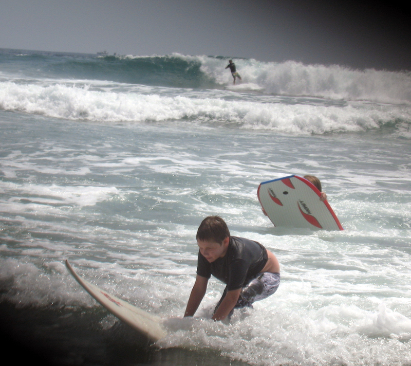 Jake_learning_to_surf